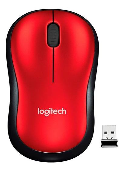Mouse Logitech Sem Fio Rc/nano Vermelho M185