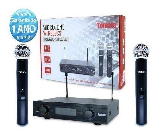 Microfone Sem Fio Uhf Atacado Revenda Lojas (kit C/ 4 Caixa)