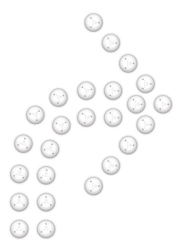 Imagen 1 de 4 de Kit Flecha Doble Curva 90 Derecha Punto No Pintura Vial