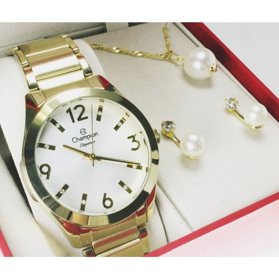 Relógio Champion Elegance Feminino Cn25396w