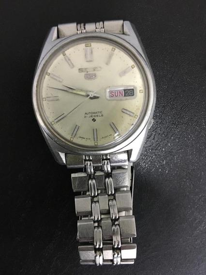 Relógio Seiko 5 6119-8093 Antigo