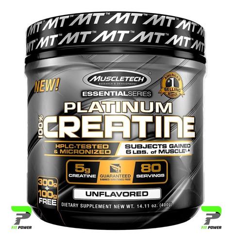 100% Platinum Creatine 400 Grs. De Muscletech (80 Servicios)