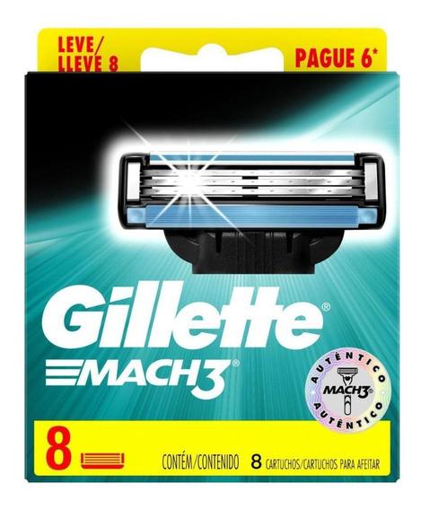 Carga Gillette Mach3 Regular Leve 8 Pague 6