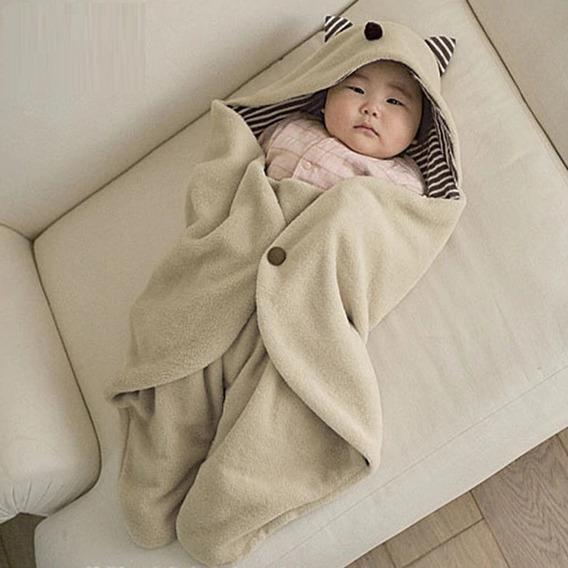 Cobertor Manta Bebê Saco De Dormir Gatinho Pronta Entrega