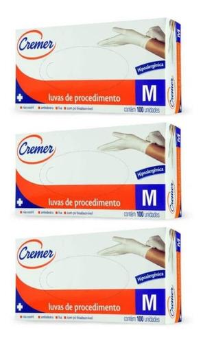 Imagem 1 de 1 de Cremer Luvas De Procedimento Tamanho M C/100 (kit C/03)