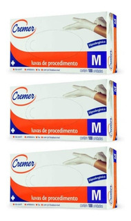 Cremer Luvas De Procedimento Tamanho M C/100 (kit C/03)