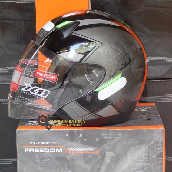 Capacete Aberto Original X11 Freedom Metric Passeio Moto