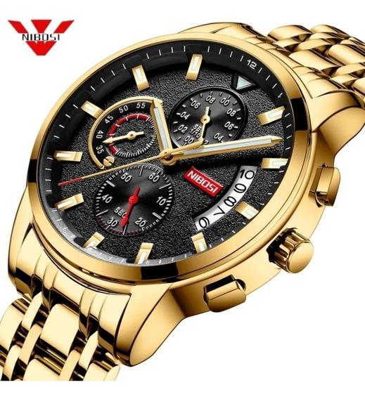 Relógio Masculino Nibosi, Funcional, Barato, Promoção, Top