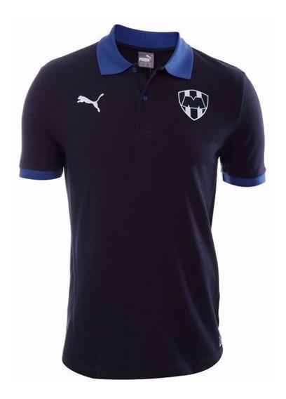 Playera Polo Rayados Monterrey Puma Original Azul Futbol