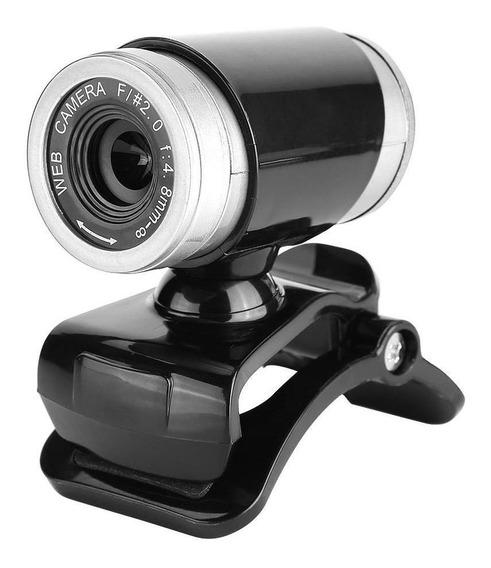 Webcam Hd - 360° Usb 2.0 Câmera Digital De Vídeo Com Micr