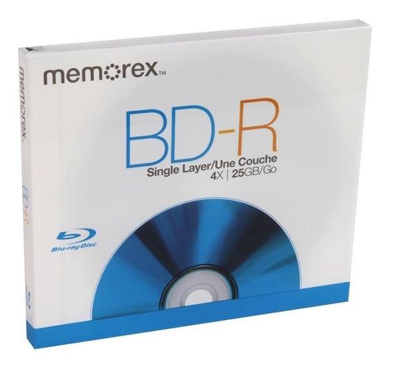 Memorex Bd-r Sl Capa Simple 4x 25gb Blu Ray Disc