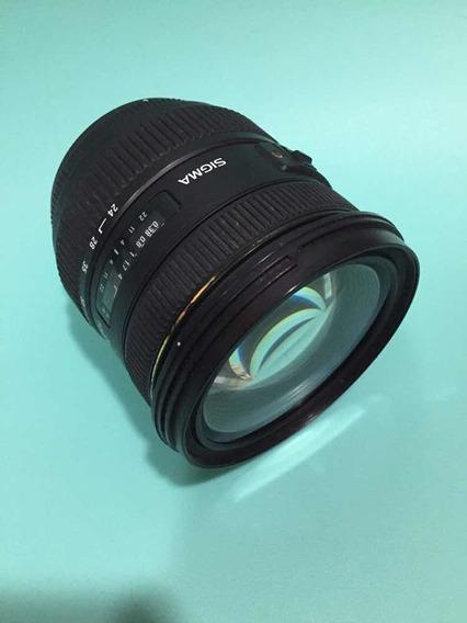 Lente Sigma Usada 24-70mm F/2.8 If Ex Dg Hsm Autofoco Cannon
