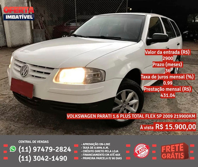 Volkswagen Parati 2009 1.6 Plus Total Flex 5p