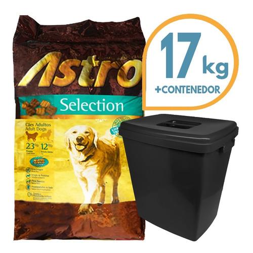 Imagen 1 de 2 de Comida Perro Adulto Astro Selection 17 Kg + Contenedor