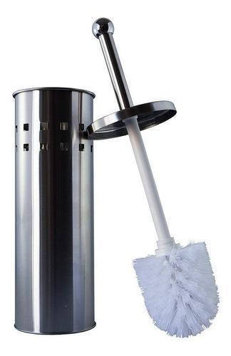 Imagen 1 de 2 de Cepillo Para Inodoro En Acero Inoxidable 0741 Baño Hogar