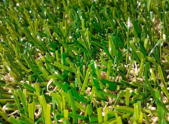 Tapete Grama Sintetica 7m² Campo Decoração 20mm Piso Verde