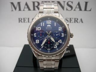 Orient Sport Cronografo Azul Acero Fkv01002d Promo Cuotas