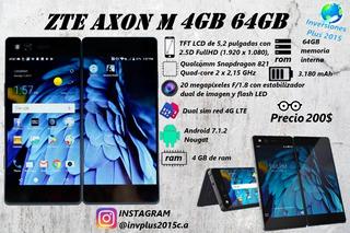 Telefono Zte Axon M 4gb Ram 64 Rom