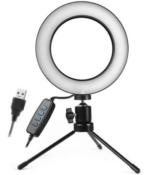 Kit Iluminador Ring Light Luz Led Foto Video Selfie Refletor