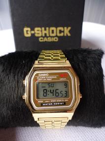Relógio Casio Vintage Unissex Retro Dourado Rose Camuflado