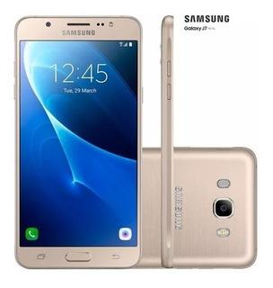 Samsung Galaxy J7 Duos Dourado + Garantia + Carregador Turbo