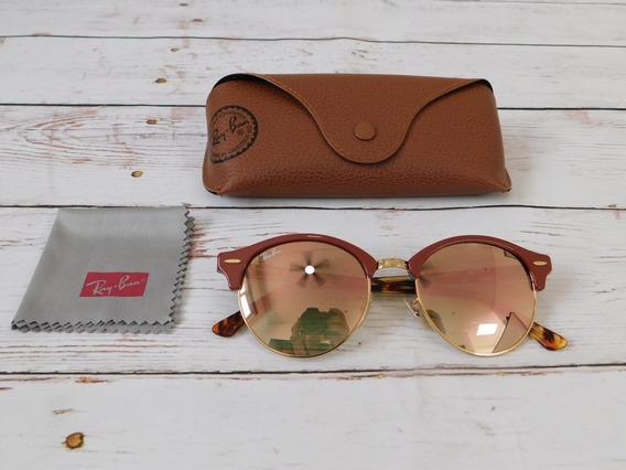 Lentes Ray-ban Originales Clubround Flash Lenses Marrón