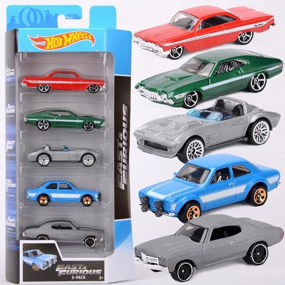 Hot Wheels Set 5 Autitos De Rapido Y Furioso Fast & Furious