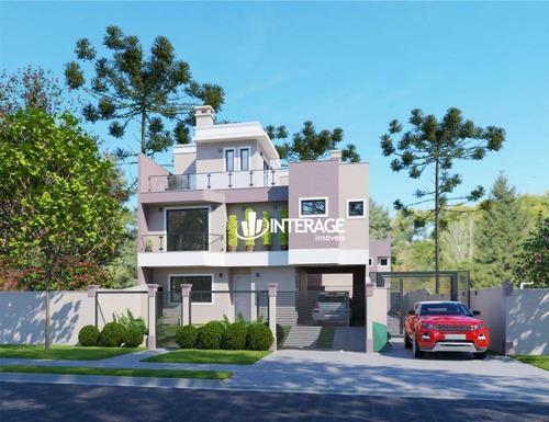 Imagem 1 de 6 de Sobrado Com 3 Dormitórios À Venda, 161 M² Por R$ 749.600,00 - Santa Felicidade - Curitiba/pr - So0284