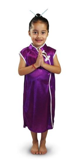 Disfraz Kimono China Niña Talla 2 A La 12
