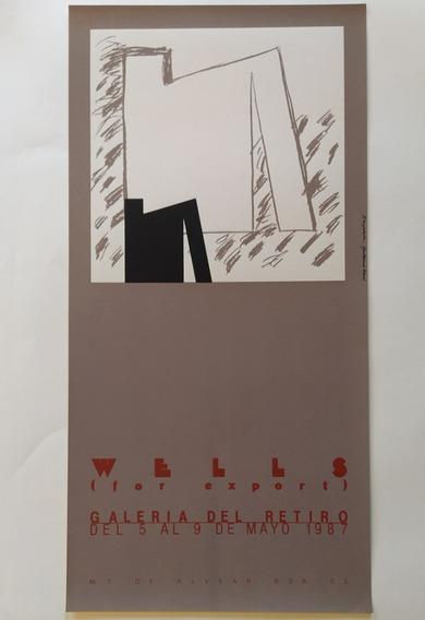 Luis Wells Cartel Afiche Serigrafía Original 1987 (negro)