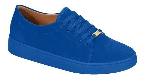 Tênis Feminino Vizzano Casual Nobuck Color Azul 1214205