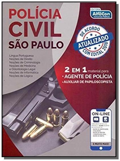 Policia Civil Sao Paulo - 2 Em 1 Agente De Policia - Auxilia