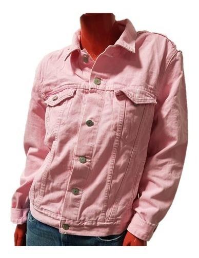 Chamarra Dama Unisex Mezclilla Rosa Trd Pink Twj01419