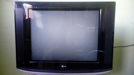 Tv Lg 29´´ Cor Preta Com Conversor Digital Comum .