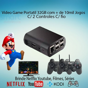 Video Game Multijogos 10mil Jogos 2 Controles 32gb Netflix