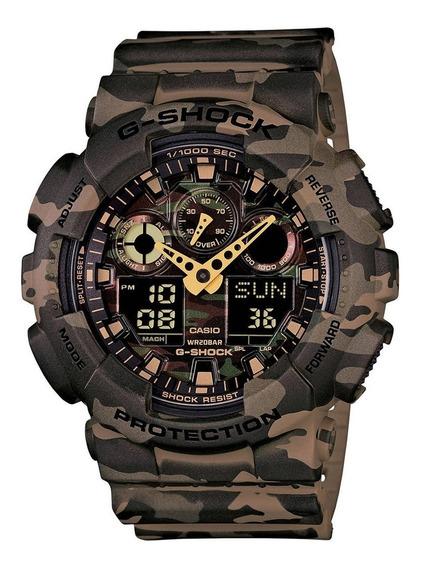 Relógio Casio G-shock Ga-100cm-5adr Camuflado Ga100 + Nfe