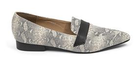 Zapatos Flats Dama Serpiente Textura Beige 8312