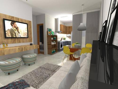 Apartamento Com 2 Dormitórios À Venda, 56 M² Por R$ 350.000,00 - Vila Bastos - Santo André/sp - Ap8567