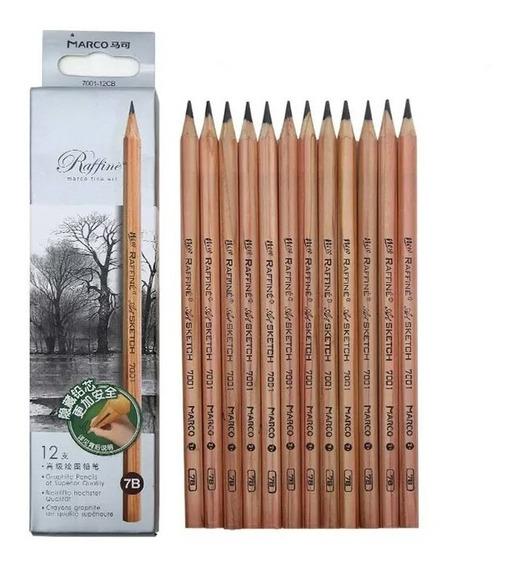 Caja 13 Lápices Profesionales Para Dibujo/ Arte
