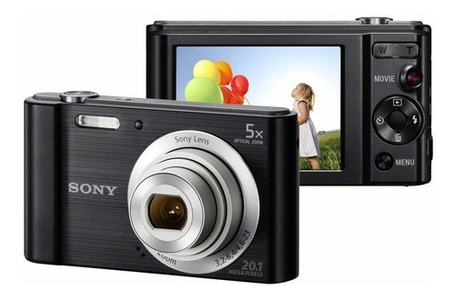 Cámara Sony Dsc W800 20.1mp Con Zoom Óptico 5x 100% Original