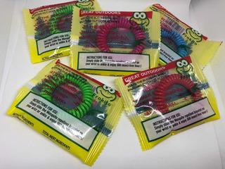 Paquete De 10 Pulseras Repelente Mosquitos Insectos