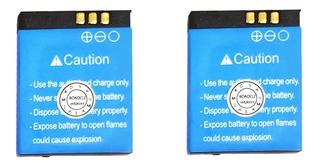 Kit 2 Bateria P/ Relógio Smartwatch V8 Dz09 A1 380mah 3.7v