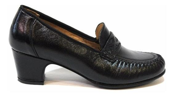 Zapato Mocasin Cuero Mujer Art 183 / N3. Marca Modigliani
