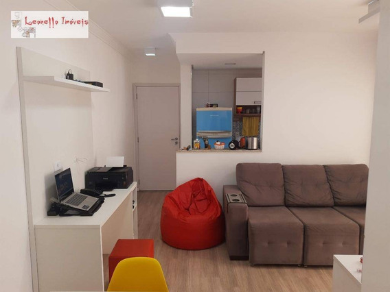 Locação Mobiliado + Serviços, 2 Dorm, 1 S, 2 Vagas. Consulte. 57 M² - Bairro Jardim - Santo André/sp - Ap0064