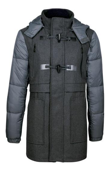 Dlj Abrigos Corte Regular Gorro Desmontable Moda 7550121