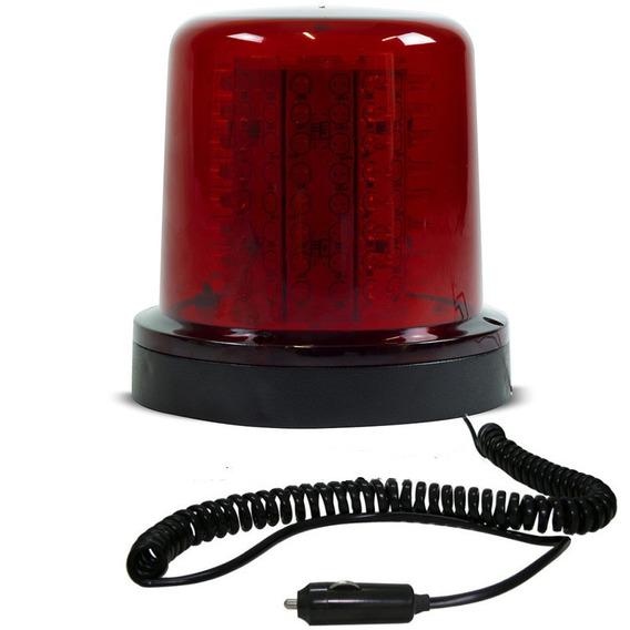 Giroled Giroflex 12v Vermelho 64 Leds 6 Efeitos Imã E Plug