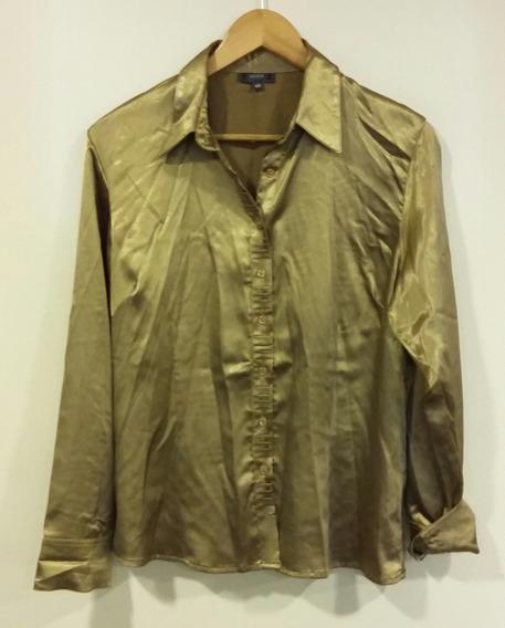 Camisa Dorada Evoque Talle 48