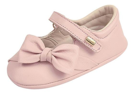 Sapato Infantil Feminino Modelo Boneca Couro Doce Bebê
