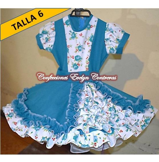 Vestidos Vestido Huasa China Cueca T/ 6