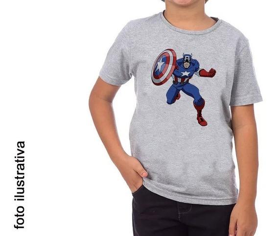 Camiseta Capitao America Infantil